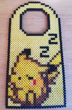 Pikachu door hanger perler beads by s2kitty
