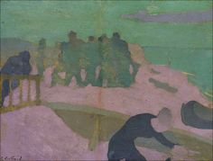 View La plage violette (Circa By Édouard Vuillard; oil on board laid down on cradled panel; Access more artwork lots and estimated & realized auction prices on MutualArt. Pierre Bonnard, Edouard Vuillard, Figure Painting, Painting & Drawing, Pink Painting, Avant Garde Artists, Illustration, Post Impressionism, French Art