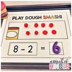 Subtraction Kindergarten, Subtraction Activities, Kindergarten Math Activities, Preschool Math, Fun Math, Math Worksheets, Numeracy Activities, Kindergarten Classroom, Classroom Ideas