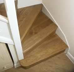 Oak Stair Cladding | Oak Kyte Winder Flight | Oak Bullnose Bottom Step