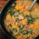 French Green Lentil & Butternut Squash Soup - Yummy and gluten-free. I can pin it to 2 boards!
