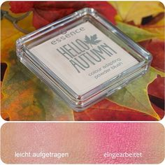 hello autumn trend edition - colour adapting powder blush the innovative powder blush reacts to the individual ph-value of your skin and turns into a fresh pink upon application #makeup #cosmetics #essence #trendedition #limitededition #new #like