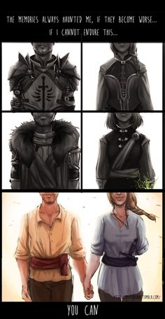 Cullen and the Inquisitor from the beginning to the end.