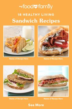 Layer on the flavor with this tasty collection of Healthy Living Sandwiches! Discover a variety of delicious recipes like Famous Sub Shop Club, Bruschetta & Ham Sandwich, and Touchdown Taco Sliders.