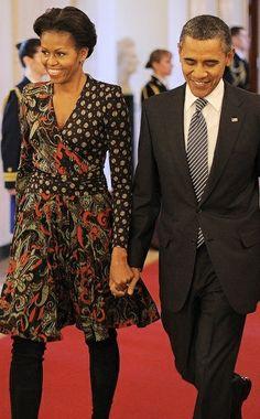 Michelle Obama in Etro