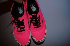 Pink Vans! A little cheesy, but really adorable. <3