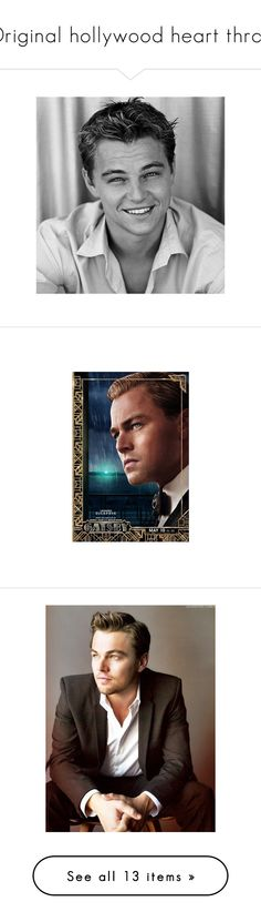 """""""Original hollywood heart throb"""" by fashion-nova ❤ liked on Polyvore featuring pictures, boys, leonardo dicaprio, people, bw, home, home decor, wall art, art deco movie posters and art deco home decor"""