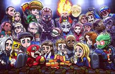 """Superhero """"Bite"""" Club Happy CW crossover week!!! This was a beast of an illo to draw up, but tons of fun at the same time!! Hope you all enjoy it!!! @cw_arrow @arrowwriters @arrowprodoffice @stephenamell @emilybett @davidpaulramsey @paulblackthorne..."""