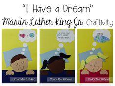 """Color Me Kinder: """"I Have a Dream"""" Martin Luther King Jr. Craftivity"""