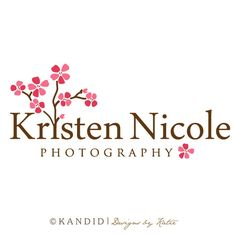 Premade Cherry Blossom Logo and Watermark by KandidDesign on Etsy, $35.00