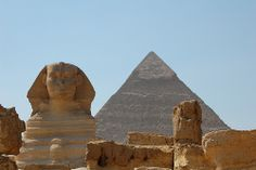 Cairo, Egypt (Sphinx and Pyramids of Giza)