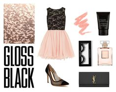 """Gloss black"" by joana-morais-i on Polyvore featuring Dorothy Perkins, Gianvito Rossi, Yves Saint Laurent and Chanel"