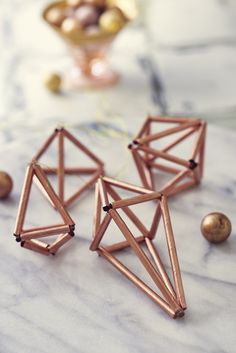 Cool copper decorations featured in Homemaker 38 Image (c) Cliqq Photography Chrismas Movies, Christmas Crafts, Christmas Decorations, Copper Decor, Cosy Winter, Housewarming Present, Wire Crafts, Winter House, Homemaking