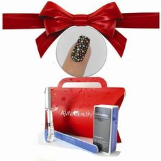 Nail Strips Bling Heart  Swisa Cuticle Oil  A-viva Nail Kit - Buffer Eco Nail File  Red Box *** More info could be found at the image url.