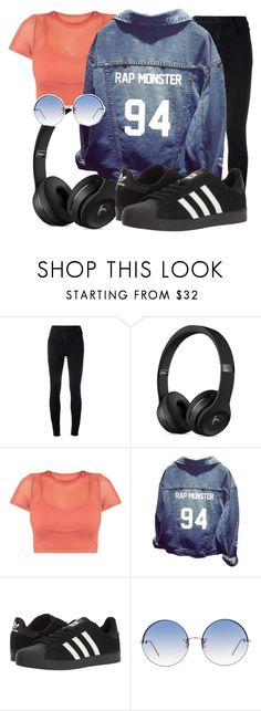 """""""RAP MONSTER"""" by antonellamar1012 ❤ liked on Polyvore featuring J Brand, adidas and Linda Farrow"""