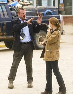 Christopher Nolan and Jessica Chastain on the set of Interstellar Christopher Nolan, Chris Nolan, Nolan Film, Deepika Padukone Style, Fritz Lang, Jean Luc Godard, Foreign Movies, Epic Movie, Jessica Chastain