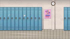 School Hallway Background