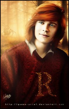 Ron Weasley. Doesn't really look like Rupert Grint, but the long hair is definitely reminiscent of how he looked in the fourth movie.