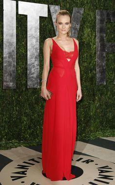 Oscar 2012 alfombra roja Vanity Fair: Diane Kruger de Calvin Klein