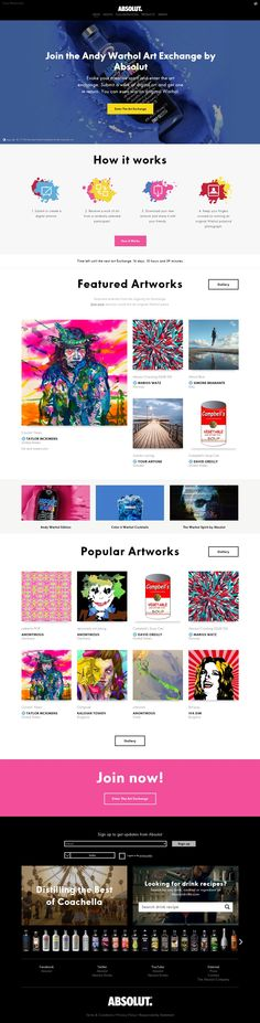 The Andy Warhol Art Exchange http://flattrendz.com/flat-design-gallery/andy-warhol-art-exchange/
