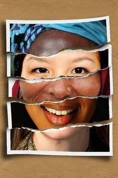 UNITY - This diversity poster is composed of a collage of women faces from all different races to make one human face. It makes a point that we are all human and share the same features but still diverse in appearance. Diversity Poster, Equality And Diversity, Cultural Diversity, Racial Diversity, Diversity Display, Ethnic Diversity, Unity In Diversity, Cultural Identity, Identity Art