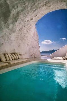 Most Beautiful Hotel Pools | Katikies - Santorini, Greece