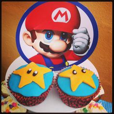 Cupcakes de blueberry Mario Bros