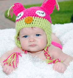 Baby in funny hat