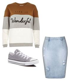 """Casual Apostolic-Pentecostal"" by jezebelmejia on Polyvore featuring Ally Fashion, River Island and Converse"