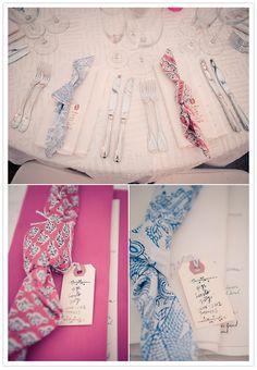 bandana-style table linens