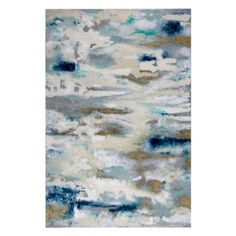 Blue and Bold from Z Gallerie -Combining satiated hues of linen white artistically interwoven with blues and greys, Blue and Bold offers a striking piece of abstract art to adorn your walls. Blended colors cascade on the canvas offering a wide array of hues in a stunning composition.  Hand-painted canvas with metallic paint accents and visible texture