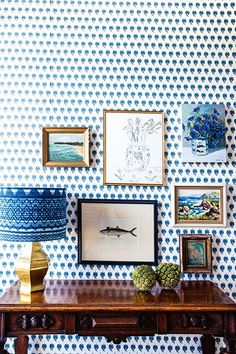 Halcyon House - a boutique hotel in NSW. Love the simple side table and the gallery wall. Decoration Inspiration, Interior Inspiration, Decor Ideas, Decorating Ideas, Halcyon House, Anna Spiro, Interior Styling, Interior Design, Boat Interior