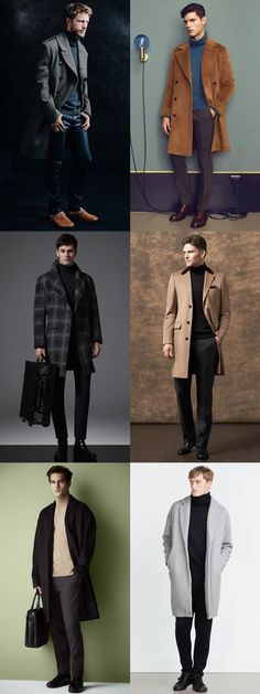 Autumn/Winter Layering Combination: Men's Roll Necks With Overcoats Outfit Inspiration Lookbook