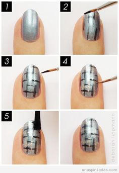 Uñas pintadas. Nail Art paso a paso. Ideas, dibujos y tutoriales para decorar tus uñas.