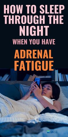 Improve adrenal fatigue syndrome and start sleeping through the night again. Adrenal Fatigue Treatment, Adrenal Fatigue Symptoms, Adrenal Glands, Chronic Fatigue, Chronic Illness, Adrenal Stress, Adrenal Diet, Adrenal Health, Menopause Diet