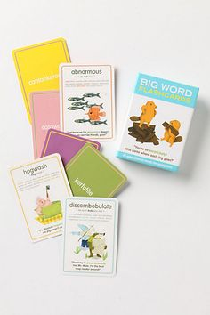 Big Words Flashcards #anthropologie