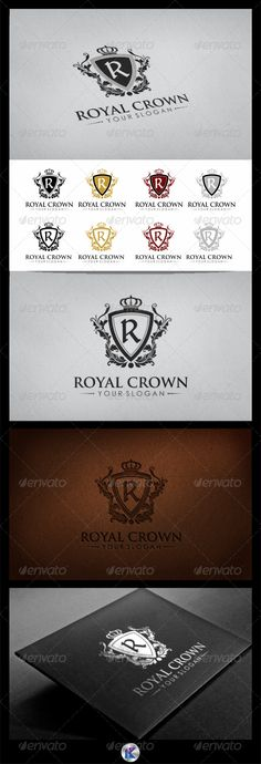 "Royal Crown Logo  #GraphicRiver         Royal Crown Logo  	 Overview:  4 Variations Colour, and 2 Variations Logo  Editable & Re-sizable file in these file formats [EPS, AI, CDR]  Easily customizable colors  Letter ""R"" is fully editable  	 Font Used:  Delitsch Antiqua [  .dafont /delitschantiqua.font ]  Trajan Pro [  .fontpalace /font-download/TrajanPro-Regular/ ]  Century Gothic [ ufonts /fonts/century-gothic.html ]  	 More of my work: bolpent Portofolio"