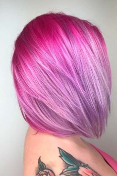 Hair Color 2018 A magenta hair color allows you to show everyone how creative and bold you are. Amaze all your friends with your new vivid and cool style. Magenta Hair Colors, Vivid Hair Color, Hair Color 2018, Cool Hair Color, Purple Hair, Hair 2018, Fantasy Unicorn, Fantasy Hair, Medium Length Hair With Layers