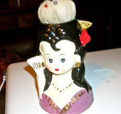 Vintage pin cushion woman head made in Japan   anime or vintage japanese on Etsy, $24.00