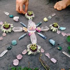 Crystal grids can be as simple or intricate as you choose. What matters is your intention when creating them. Shared by www.thecrystalgridnetwork.com