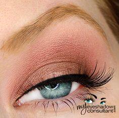 MAC eyeshadows used:      Sable (on lid, below crease)     Cranberry (crease)     Blanc Type (blend)