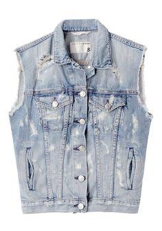 Rag & Bone / Jean / Distressed Denim Vest | La Garçonne - I'm pretty sure I can do something like this by my self from some old jeans jacket.