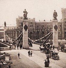 Die neue Augartenbrücke in Wien, 1873 eröffnet