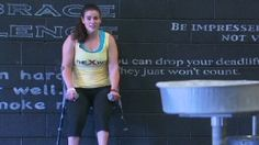 CNN video about Steph Hammerman - the world's first certified CrossFit trainer living with cerebral palsy. Thumbs up for this resilient young champion!