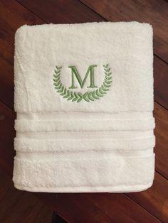 Monogrammed Towel! This towel was done using Monogram Wizard Plus!
