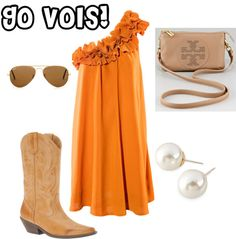Would rather pair it with Jacks, but love this for a Vols game day outfit