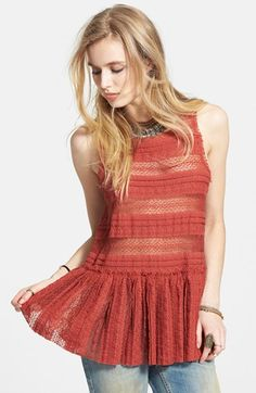 Free People Textured Lace Camisole available at #Nordstrom