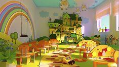 Дизайн интерьера детского сада. Идеи оформления различных помещений в детском саду.