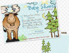 Mr. Moose Baby Shower Invite