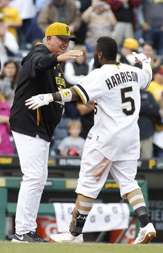 Josh Harrison  in Milwaukee Brewers v Pittsburgh Pirates